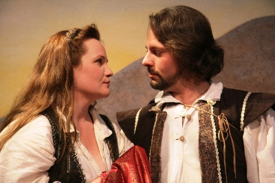 Diana (Stephanie Repin) and Antonio (Gregory M. Larson) fall in love