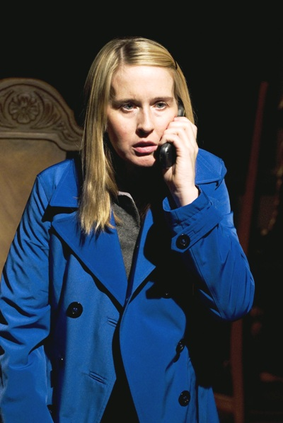 Polly Noonan in Dead Man's Cell Phone by Sarah Ruhl, directed by Jessica Thebus at Steppenwolf Theatre March 27 – July 27, 2008.
