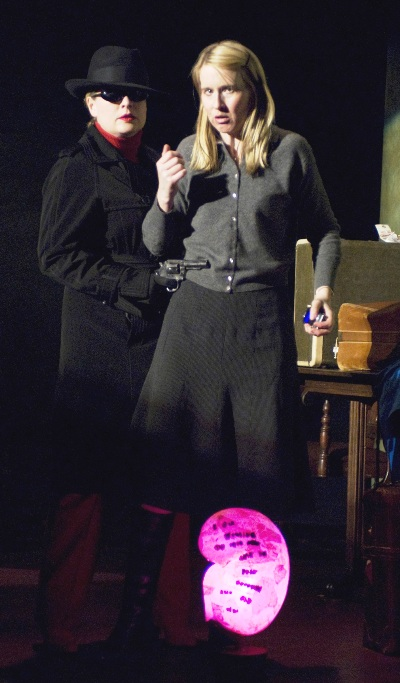 Sarah Charipar (left) and Polly Noonan (right) in Dead Man's Cell Phone by Sarah Ruhl, directed by Jessica Thebus at Steppenwolf Theatre March 27 – July 27, 2008