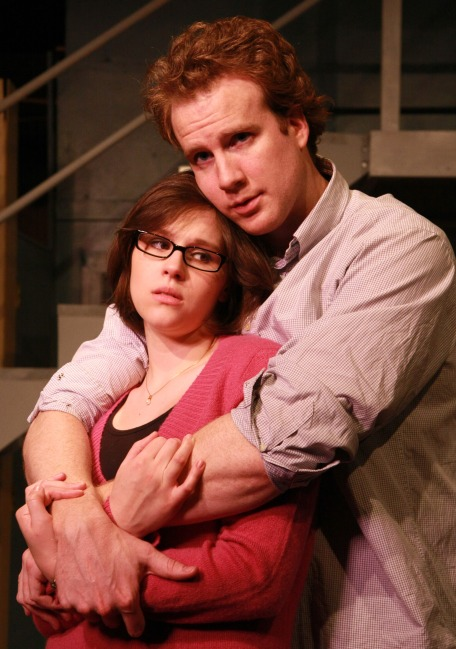 Kean (Steve O'Connell) comforts his girlfriend Lissa (Leah Nuetzel) to assuage her fears that she cannot count on anyone