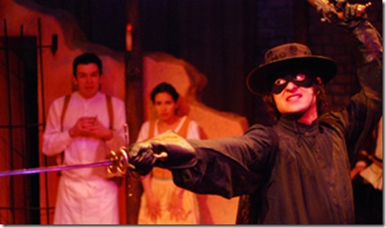 """Mark of Zorro"" at Lifeline Theatre, which will be remounted at the Theatre Building on September 27th"