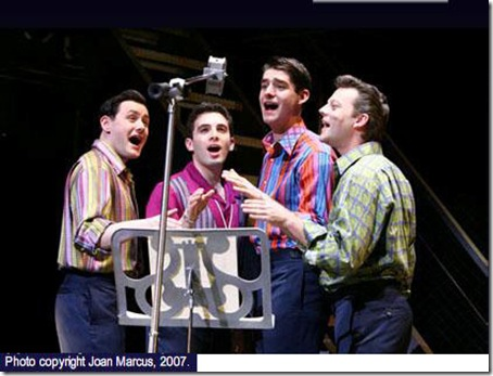"The Chicago cast of ""Jersey Boys"""