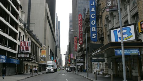 View of Broadway Theaters