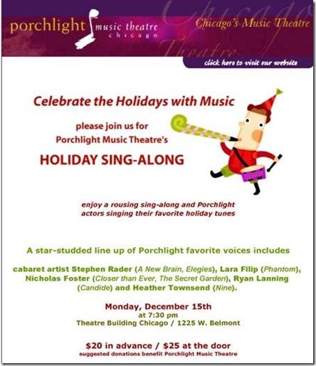 Porchlight Holiday Sing-Along