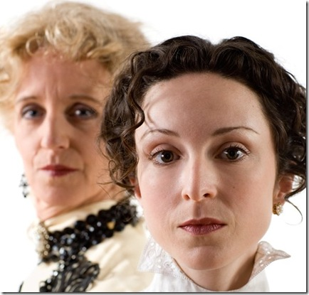 Annabel Armour and Susan Shunk, currently starring in Mrs. Warren's Profession, by George Bernard Shaw, presented by Chicago's Remy Bumppo Theatre