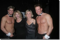 Olivia with the Chippendales.  Looks like she's having a good time!