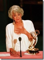 Actress Beatrice Arthur accepting her Emmy award at the 40th anniversary of the Emmy's