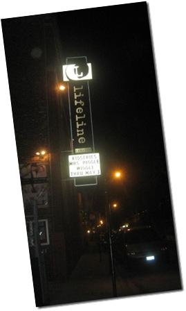 Lifeline Theatre marquee