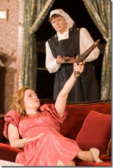 Hedda Gabler (Mackenzie Kyle) whiles away the hours.