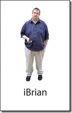 "Brian Bush, currently performing in Red Ink Theatre's ""iAlone"""