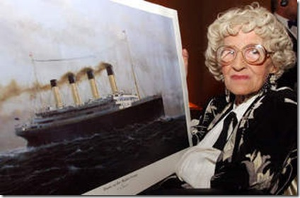 Millvina Dean, final survivor of the Titanic