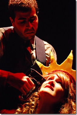"Steve Wilson and Stacy Stoltz in 'Oedipus"".  Picture taken by Paul Metreyeon."