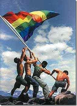 raising the rainbow flag