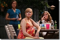 Pictured in Goodman Theatre's production of The Crowd You're In With by Rebecca Gilman, directed by Wendy C. Goldberg are (l to r) Janelle Snow (Melinda), Stephanie Childers (Windsong) and Linda Gehringer (Karen). Photo by Eric Y. Exit