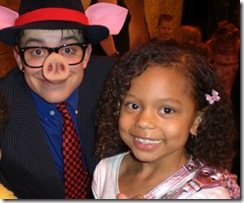 Joe Goldammer (little pig) with Ruby Aufmann