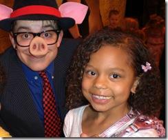 Joe Goldammer (little pig) with Ruby Aufmann