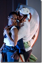 "Production stills from the play ""Ajaxantigone"""