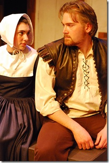 Abbigal Williams (Elaine Ivy Harris) and John Procter (Craig C. Thompson) -Infamous Commonwealth Theatre