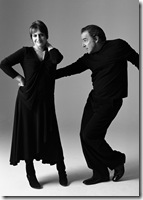 """Patti LuPone and Mandy Patinkin in """"An Evening with Patti LuPone and Mandy Patinkin."""" This one-week-only engagement with two of the most acclaimed performers of our time opens at the Center Theatre Group/Ahmanson Theatre on June 23, 2009, and will continue through June 29. For tickets and information, call (213) 628-2772 or go to www.CenterTheatreGroup.org.           Photo Credit: Brigitte LacombePress Contact: CTG Press (213) 972-7376"""