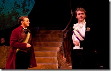 Cameron Brune as Rapunzel's Prince and William Travis Taylor as Cinderella's Prince