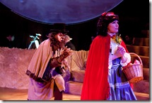 Cameron Brune as The Wolf and Jeny Wasilewski as Little Red Ridinghood