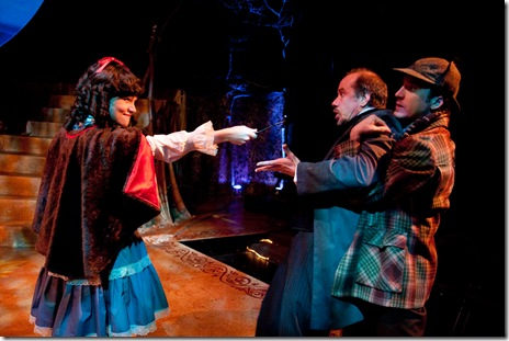 Jeny Wasilewski as Little Red Ridinghood, Henry Michael Odum as Narrator, Steve Best as The Baker