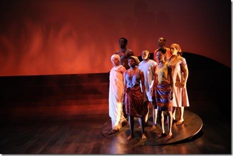 (front, from left) Nambi E. Kelley, Leslie Ann Sheppard, LaTricia Kamiko Sealy, and (rear, from left) Adeyoye, Samuel G. Roberson, Jr., Kenn E. Head and Ann Joseph (photo credit: Liz Lauren)