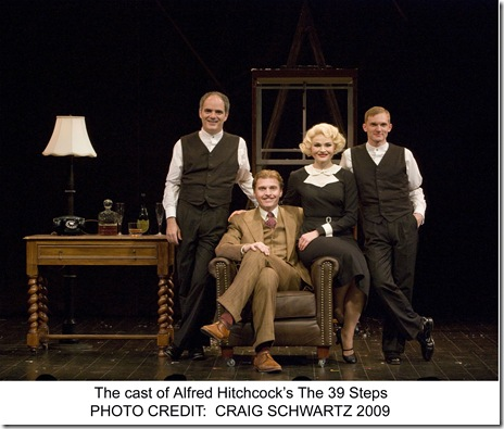 """The Cast of """"The 39 Steps"""" - photo by Craig Schwartz"""