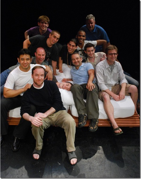fucking men cast with playwright Joe DiPietro