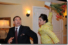 Tony Fiorentino and Lisa Herceg star in  Sex Marks the Spot, the incredibly funny political comedy playing at the Theatre Building Chicago.