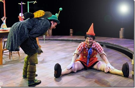 Jackson Evans as Hopper, Jameson Cooper as Pinocchio