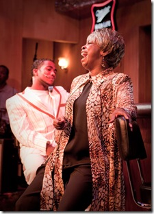 "Lawrence Williams and Rhonda Preston in ""Nothin' But the Blues"" at BET"