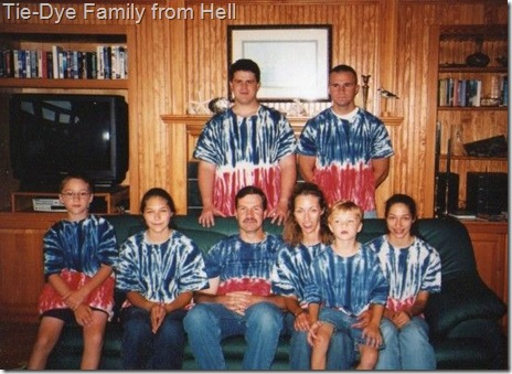 tie-dye family from hell