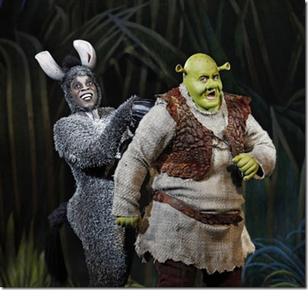 Shrek - Eric Petersen as Shrek and Alan Mingo Jr as Donkey
