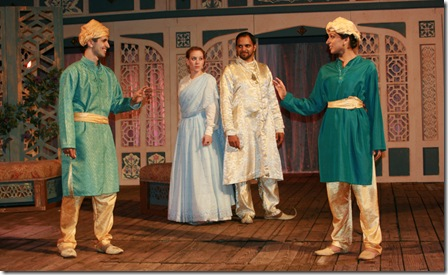 Behzad Dabu (Sabastian), Melanie Keller (Olivia), Anish Jethmaliani (Orsino) & Minita Gandhi (Viola)