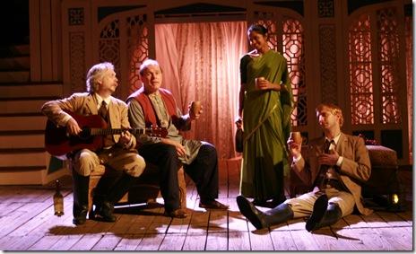 Donald Brearley (Toby), Craig Spidle (Feste), Mouzam Mekkar (Maria) & Nick Maroon (Aguecheek)