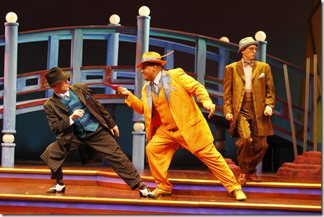 (L-R) Andy Lupp (Pish Tush), Todd Kryger (Pooh-Bah) and Stephen Schellhardt (Ko Ko) star in HOT MIKADO at Drury Lane Theatre Oakbrook Terrace through October 3.
