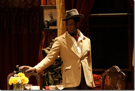 "Jaren Kyei Merrell as Guy Jacobs in Pearl Cleage's ""Blues For An Alabama Sky"", now playing in Chicago's Stage 773 through September 19, 2010"