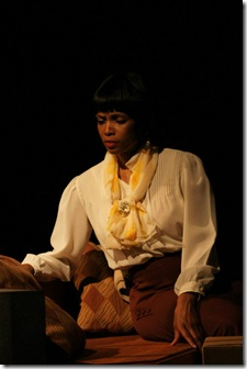 "Kelly Owens as Angel Allen in Pearl Cleage's ""Blues for an Alabama Sky"", playing in Chicago's Stage 773 through September 19th"