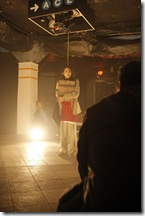 """Pictured (back to front) Edgar Miguel Sanchez and Mouzam Makkar in """"1001"""". Photo by Saverio Truglia"""