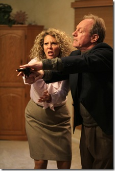 (L-R) Jacqueline Grandt (Julia), Brian Parry (Tobias), in A Delicate Balance by Edgar Albee - Redtwist Theatre 002