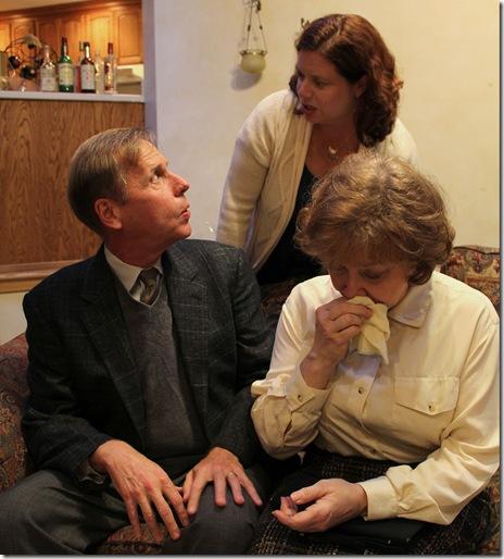 (L-R) Chuck Spencer (Harry), Cece Klinger (Claire), in A Delicate Balance - Redtwist Theatre 005