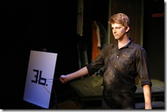 Pictured in The Ruckus' production of All Saints' Day: 44 Poems About Jeffrey Jones is Matthew Humphrey as Other. All Saints' Day begins performances on September 2 and runs through September 26 at The Side Project Theatre (1439 W Jarvis Ave). For more information, visit ruckustheater.org. Photo by Lucas Gerard Photography.