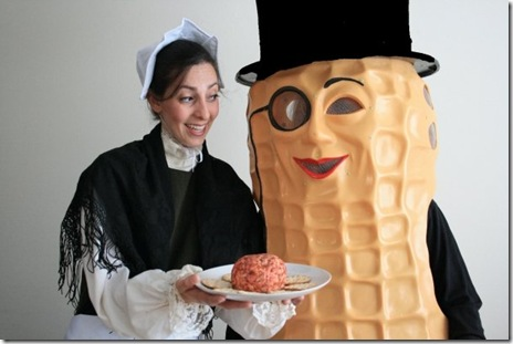 book of liz with mr peanut