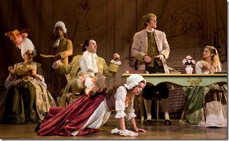 Candide at Goodman Theatre - Rebecca Finnegan, Govind Kumar, Erik Lochtefeld, Margo Seibert, Geoff Packard, Lauren Molina