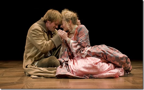 Geoff Packard and Lauren Molina in Candide at Goodman Theatre - photo by Liz Lauren