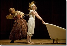 Hollis Resnick and Lauren Molina in Candide at Goodman Theatre - photo by Liz Lauren