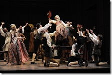 Hollis Resnick in Candide at Goodman Theatre - photo by Liz Lauren