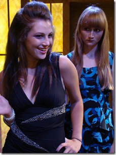 "Emmy (Zoe Levin) and friend Claire (Rae Gray) in Profiles Theatre's ""Jailbait"" by Deidre O'Connor"
