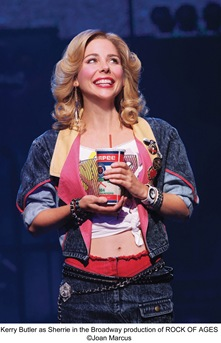 Kerry Butler as Sherrie in Broadway tour of Rock of Ages, now playing in Chicago at the Bank of America Theatre